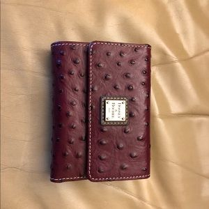 Dooney & Bourke Ostrich Framed Credit Card Wallet